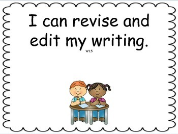 Grade 1 ELA I can statements for classroom