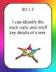 Grade 1 ELA RL & RI Objectives Posters