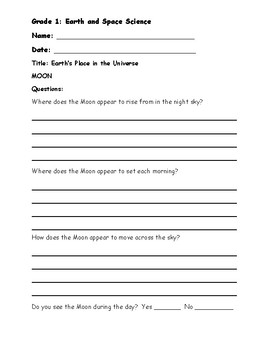 Grade 1: Earth and Space Science, Earth's Place in the Universe 1