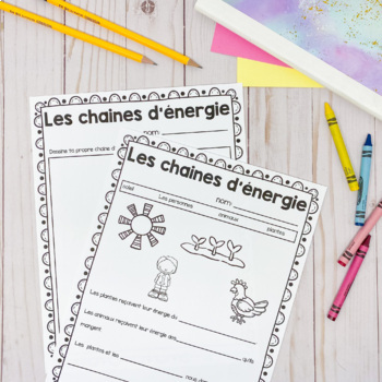 Grade 1 Energy in our Lives Unit / L'énergie (French Version)