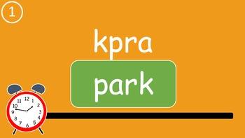 Grade 1 Engage NY Skills Full Year Spelling Word Scramble Game