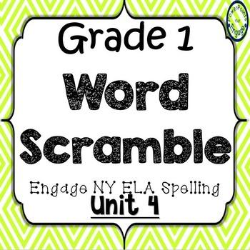 Grade 1 Engage NY Skills Unit 4 Spelling Word Scramble Game