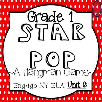 Grade 1 Engage NY Skills Unit 6 Spelling Star Pop