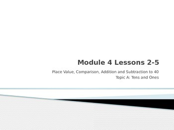 Grade 1 EngageNY Module 4 Lessons 2-5