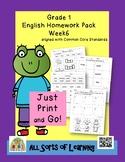 Grade 1 English Homework Pack Week 6