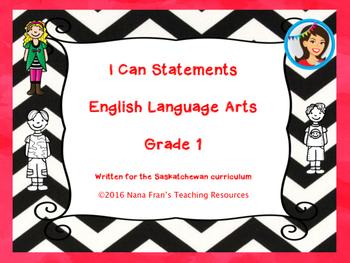 Grade 1 English Language Arts I Can Statement Posters