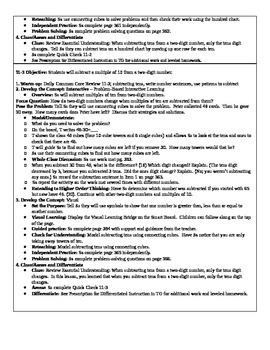 Grade 1 Envision Math Lesson Plans- Topic 11