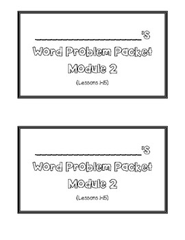 Grade 1 Eureka/Engage NY Math Application Problems Module 2 Lessons 1-15
