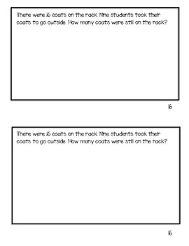 Grade 1 Eureka/Engage NY Math Application Problems Module 2 Lessons 16-29