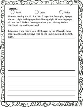 Grade 1  Math Module 2 Application Problems Student Workbook