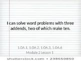 Grade 1 Eureka Math Module 2 Objectives