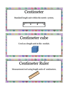 Grade 1 Math Module 3 Vocabulary Cards
