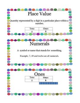 Grade 1 Math Module 4 Vocabulary Cards