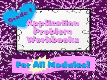 Grade 1 Math Module Application Problems Student Workbook BUNDLE!