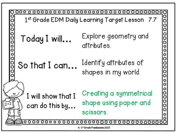 Grade 1 Everyday Math Daily Learning Targets