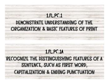 Grade 1 Foundation Literacy Standards - Rustic