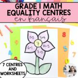 Grade 1 French Equality Centres / L'égalité (première année)
