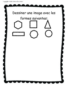 Grade 1 French Immersion 2D Shape booklet
