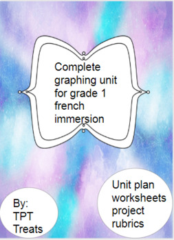 Grade 1 French Immersion Full Graphing Unit