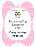 Grade 1 French Immersion Representing Numbers 1-100