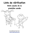 Grade 1 French Immersion Sight Word Assessment Checklist