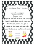 Grade 1 French Immersion Sight Word Bundle Packages 6-10
