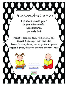 Grade 1 French Immersion Sight Word Number Bundle Packages 1-4