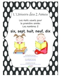 Grade 1 French Immersion Sight Word Number Pack 2