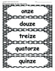 Grade 1 French Immersion Sight Word Number Pack 3