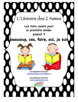 Grade 1 French Immersion Sight Word Package 10