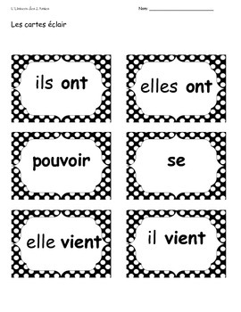 Grade 1 French Immersion Sight Word Package 26