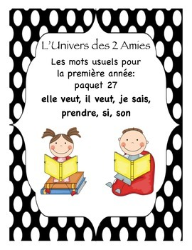 Grade 1 French Immersion Sight Word Package 27