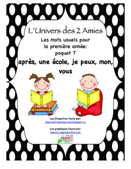 Grade 1 French Immersion Sight Word Package 7