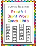 Grade 1 French Immersion Sight Word Strips