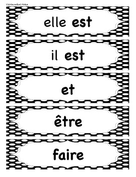 grade 1 french immersion sight words word wall by l 39 univers des 2 amies. Black Bedroom Furniture Sets. Home Design Ideas