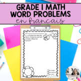 Grade 1 Math: French Word Problems (addition and subtraction, money)