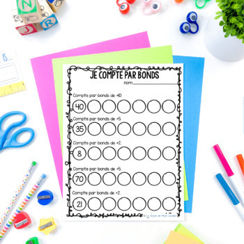 Grade 1 French Skip Counting (2s, 5s 10s)