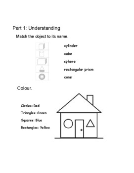 Grade 1 Geometry Test (Ontario)