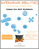Grade 1 Math Bundle - Geometry, Algebraic, M&D, Base 10 for Gifted and Talented
