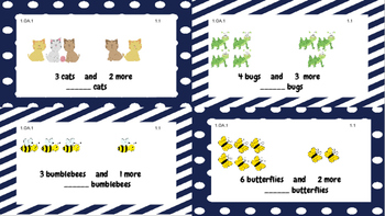 Grade 1 Go Math Chapter 1 Task Cards