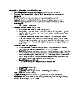 Grade 1 Go Math! Chapter 4 Lesson Plans (Based on School Year 2014-15 Edition)