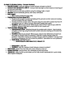 Grade 1 Go Math! Chapter 7 Lesson Plans (Based on School Year 2014-15 Edition)