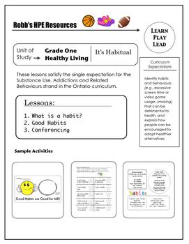 Grade 1 Good/Bad Habits Unit