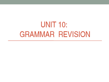 Grade 1 - Grammar Review
