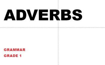 Grade 1 Grammar Sequence Adverbs Bundle
