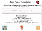 Grade 1 Health Food Choices Poster Assignment