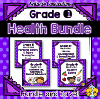 Grade 1 Health Units Bundle