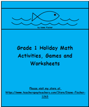 Grade 1 Holiday Math Bundle