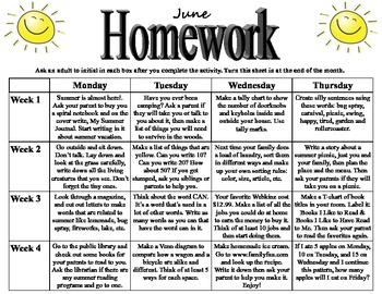 Grade 1 Homework