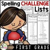 Journeys 1st Grade Challenge Spelling Lists aligned with HMH Journeys